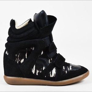 Isabel Marant Shoes - Isabel Marant Beckett Wedge Pony Hair Sneakers 38